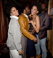 "LOS ANGELES - FEBRUARY 19: Zazie Beetz, Donald Glover, Stefani Robinson and Brian Tyree Henry at the party for FX's ""Atlanta Robbin' Season"" at the Clifton Cafeteria on February 19, 2018 in Los Angeles, California.(Photo by Frank Micelotta/FX/PictureGroup)"
