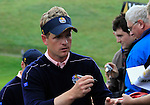 Luke Donald signs autographs during Practice Day 3 of the The 2010 Ryder Cup at the Celtic Manor, Newport, Wales, 29th September 2010..(Picture Eoin Clarke/www.golffile.ie)