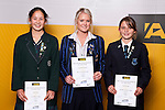 Girls Hockey finalists Julia King, Samantha Harrison & Danielle Jones. ASB College Sport Auckland Secondary School Young Sports Person of the Year Awards held at Eden Park on Thursday 12th of September 2009.