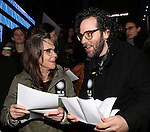 Sally Field and Sam Gold attend The Ghostlight Project to light a light and make a pledge to stand for and protect the values of inclusion, participation, and compassion for everyone - regardless of race, class, religion, country of origin, immigration status, (dis)ability, gender identity, or sexual orientation at The TKTS Stairs on January 19, 2017 in New York City.