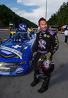 Jun 18, 2017; Bristol, TN, USA; NHRA funny car driver Jack Beckman during the Thunder Valley Nationals at Bristol Dragway. Mandatory Credit: Mark J. Rebilas-USA TODAY Sports