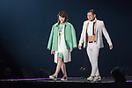 Yuka Murofushi and Toshiaki Kasuga(Audrey), Feb 28, 2015 : Tokyo, The 20th Tokyo Girls Collection 2015 Spring/Summer was held at Yoyogi National First Gymnasium. (Photo by Michael Steinebach/Aflo)