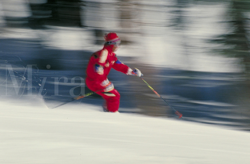 Scottie Ewing (MR435) Alpine Skiing, Blurred Motion. Scottie Ewing (MR435). Summit County, Colorado.