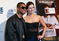 LOS ANGELES, CA - NOVEMBER 13: Usher and Kaily Smith Westbrook at People You May Know at The Pacific Theatre at The Grove in Los Angeles, California on November 13, 2017. Credit: Robin Lori/MediaPunch /NortePhoto.com