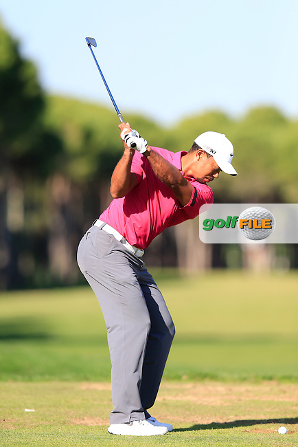 Tiger WOODS (USA) Swing sequence on the range at the Turkish Airlines Open presented by the Ministry of Tourism and Culture, hosted at the The Montgomerie Maxx Royal,Antalya,Turkey.<br /> Picture: Fran Caffrey www.golffile.ie
