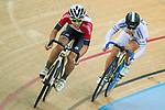 Tso Kai Kwang (l) of the SCAA and Leung Chung Pak of the X SPEED compete in Men Junior - Omnium III Elimination during the Hong Kong Track Cycling National Championship 2017 on 25 March 2017 at Hong Kong Velodrome, in Hong Kong, China. Photo by Marcio Rodrigo Machado / Power Sport Images