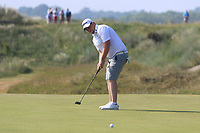 Caolan Rafferty (Dundalk) on the 15th green during Round 4 of the East of Ireland Amateur Open Championship 2018 at Co. Louth Golf Club, Baltray, Co. Louth on Monday 4th June 2018.<br /> Picture:  Thos Caffrey / Golffile<br /> <br /> All photo usage must carry mandatory copyright credit (&copy; Golffile | Thos Caffrey)