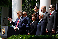 United States President Donald J. Trump delivers remarks before signing H.R. 7010 - PPP Flexibility Act of 2020 in the Rose Garden of the White House in Washington, DC on June 5, 2020. <br /> Credit: Yuri Gripas / Pool via CNP/AdMedia