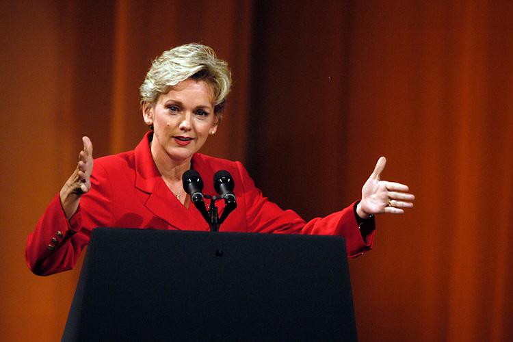 Michigan Gov. Jennifer Granholm at Rep. John Dingell's (D-Mi.) 50th anniversary party in the National Building Museum.