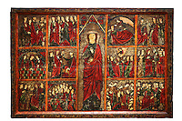 Gothic painted Panel of the life of Saint Ursula. Tempera and varnished metal plate on wood. National Museum of Catalan Art, inv no: 004377-000