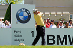 Damien McGrane tees off from the 1st tee to start Round 3 of the BMW PGA Championship at  Wentworth, Surrey, England, 22nd May 2010...Photo Golffile/Eoin Clarke.(Photo credit should read Eoin Clarke www.golffile.ie)....This Picture has been sent you under the condtions enclosed by:.Newsfile Ltd..The Studio,.Millmount Abbey,.Drogheda,.Co Meath..Ireland..Tel: +353(0)41-9871240.Fax: +353(0)41-9871260.GSM: +353(0)86-2500958.email: pictures@newsfile.ie.www.newsfile.ie.