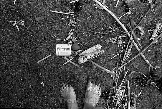 Trent feet at Kirby Cove with disc film box<br />