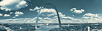 St. Louis riverfront panorama