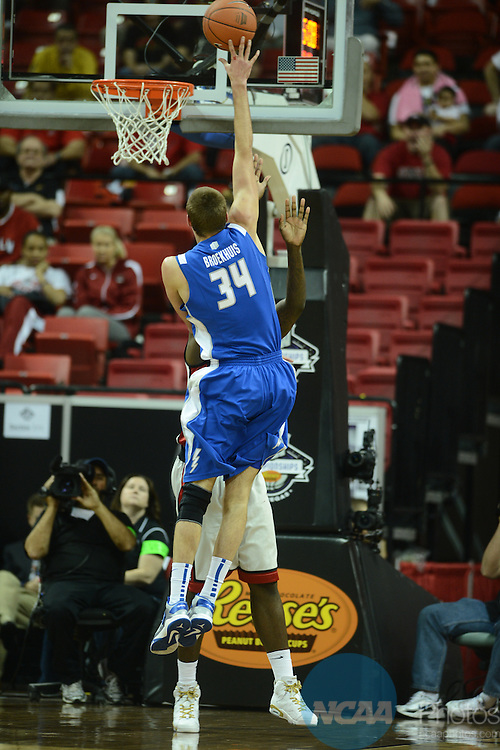 13 MAR 2013: The Air Force Academy takes on The University of Las Vegas during the Mountain West Conference Men's Basketball Tournament held at the Thomas & Mack Center in Las Vegas, NV. Peter Lockley/NCAA Photos