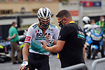 Peter Sagan (SVK) Bora-Hansgrohe arrives at sign on before the start of Stage 1 of Tour de France 2020, running 156km from Nice Moyen Pays to Nice, France. 29th August 2020.<br /> Picture: Bora-Hansgrohe/BettiniPhoto | Cyclefile<br /> All photos usage must carry mandatory copyright credit (© Cyclefile | Bora-Hansgrohe/BettiniPhoto)