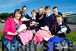 Margaret Hanafin Principal of Currow NS are appealing for people to donate to their clothes collection in the school on September 28th with l-r: Lauren O'Connor, David Healy, Doireann O'Sullivan, Eamon O'Mahony, Daniel Daly and Amber Foley
