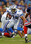 28 August 2008:  Detroit Lions' running back Artose Pinner gains 4 yards in the 4th quarter against the Buffalo Bills at Ralph Wilson Stadium in Orchard Park, NY. The Lions defeated the Bills 14-6 in their fourth and final pre-season game...Mandatory Photo Credit: Ed Wolfstein Photo