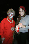 """Days of Our Lives' Louise Sorel with Grandma the Clown at the Big Apple Circus """"Dance On"""" on November 18, 2010 at Lincoln Center, New York City, New York. Louise's favorite part of the circus was the chorus line of miniature horses, a big horse, dogs and goats along with all the other acts. Posing with Louise is Grandma the Clown. (Photo by Sue Coflin/Max Photos)"""