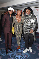 Nile Rodgers, Laura Mvula and George Clinton<br /> at The Ivor Novello Awards 2017, Grosvenor House Hotel, London. <br /> <br /> <br /> ©Ash Knotek  D3267  18/05/2017