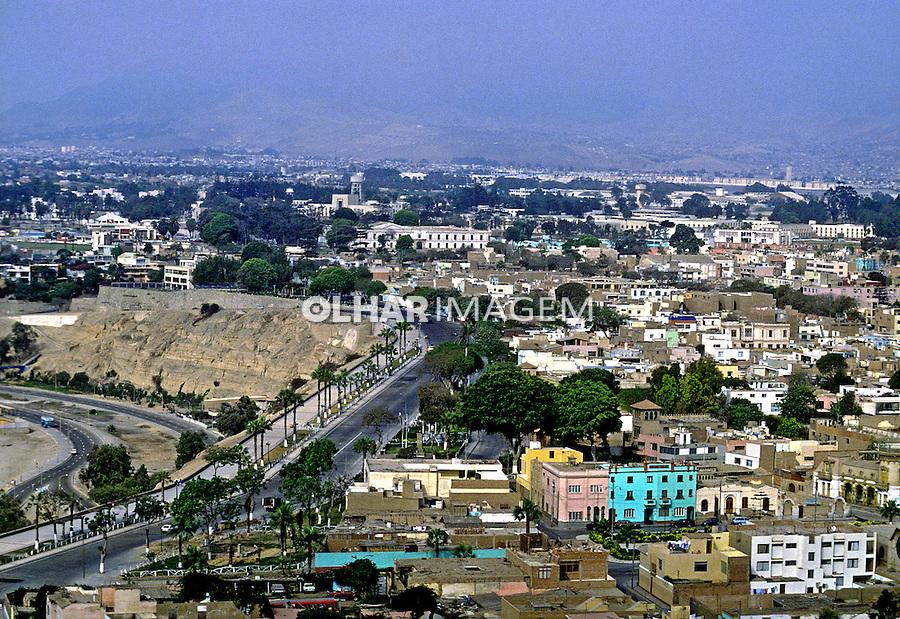 Vista geral da cidade de Lima. Perú. Foto de Daniel Augusto Jr. Data: 1993.