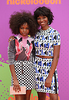 LOS ANGELES, CA July 13- Riele Downs, Reiya Downs, At Nickelodeon Kids' Choice Sports Awards 2017 at The Pauley Pavilion, California on July 13, 2017. Credit: Faye Sadou/MediaPunch