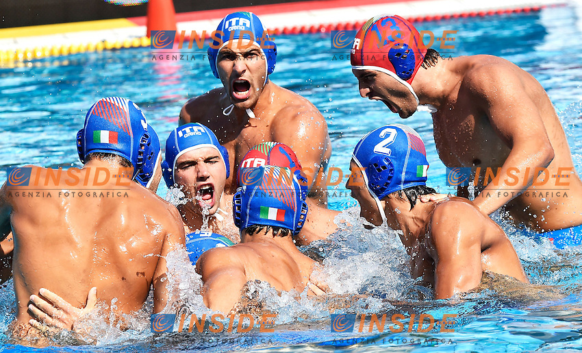 Italia <br /> Romania - Italy / Romania - Italia <br /> LEN European Water Polo Championships 2014<br /> Alfred Hajos -Tamas Szechy Swimming Complex<br /> Margitsziget - Margaret Island<br /> Day02 - July 15 <br /> Photo A.Staccioli/Insidefoto/