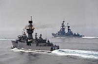 - NATO naval force in the Mediterranean sea STANAVFORMED (Standing Naval Force Mediterranean), Spanish frigate Extremadura and German Luetjens ....- squadra navale NATO in mare Mediterraneo STANAVFORMED(Standing Naval Force Mediterranean, fregata spagnola Extremadura e tedesca Luetjens