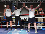 Paul Gorman Clogherhead Dreadnots was beaten by Anthony Murtagh St Feckins in the White Collar Boxing in City North Hotel. Photo:Colin Bell/pressphotos.ie