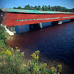 Covered Bridge over Lievre River, Quebec, Canada