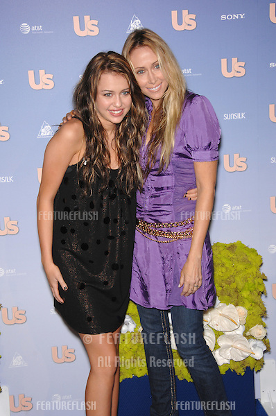 """Miley Cyrus & mother Leticia """"Tish"""" Cyrus at Us Weekly Magazine's Hot Hollywood Party at Opera nightclub in Hollywood..September 27, 2007  Los Angeles, CA.Picture: Paul Smith / Featureflash"""