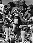 San Francisco 49ers training camp August 3, 1982 at Sierra College, Rocklin, California.  San Francisco 49ers defensive back Ronnie Lott (42).