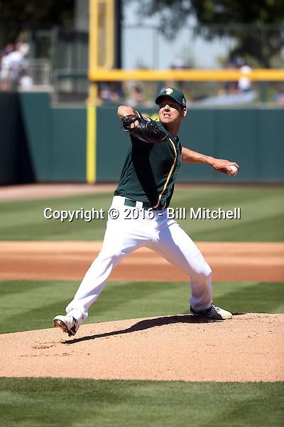 Rich Hill - Oakland Athletics 2016 spring training (Bill Mitchell)