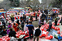 March 3, 2012, Tokyo, Japan - Vendors of Daruma dolls, Japanese traditional ornaments of Buddhism, got their spaces to sell the dolls at Daruma Ichi, or Daruma Market, at Jindaiji Temple in Chofu, Tokyo, Japan on March 3, 2012. This was one of the biggest three Daruma Markets in Japan. Since it was taken place on March 3 and 4 every year no matter what day of the week and was weekend this year, many people showed up. (Photo by Koichiro Suzuki/AFLO) [4012]