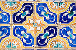 Moorish patterns ceramic decorated tiles, Ronda, Spain