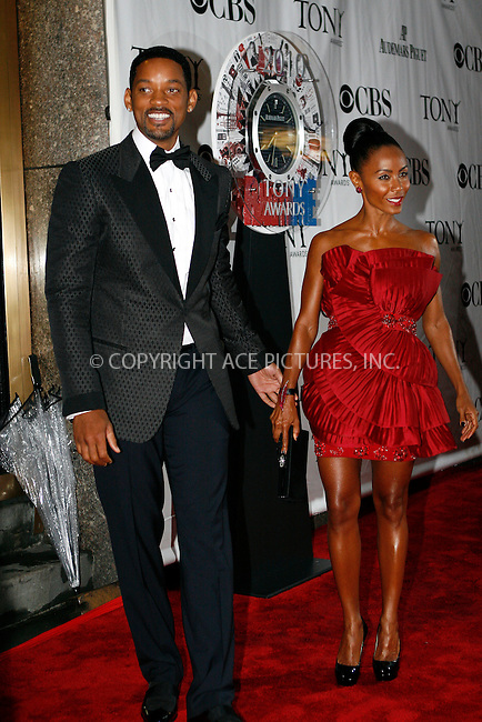 WWW.ACEPIXS.COM . . . . .  ....June 13 2010, New York City....Will Smith and Jada Pinkett-Smith arriving at the 64th Annual Tony Awards at Radio City Music Hall on June 13, 2010 in New York City. ....Please byline: NANCY RIVERA- ACEPIXS.COM.... *** ***..Ace Pictures, Inc:  ..Tel: 646 769 0430..e-mail: info@acepixs.com..web: http://www.acepixs.com