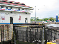 Panama Canal lock by Art Harman. I stood right at the edge to get this angle.