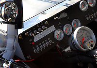 Mar 30, 2007; Martinsville, VA, USA; The dashboard of Nascar Nextel Cup Series driver Tony Stewart (20) during practice for the Goody's Cool Orange 500 at Martinsville Speedway. Martinsville marks the second race for the new car of tomorrow. Mandatory Credit: Mark J. Rebilas