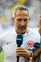 Trainer Adi Hütter (Eintracht Frankfurt) im Interview - 01.08.2019: Eintracht Frankfurt vs. FC Flora Tallinn, UEFA Europa League, Qualifikation 2. Runde, Commerzbank Arena<br /> DISCLAIMER: DFL regulations prohibit any use of photographs as image sequences and/or quasi-video.