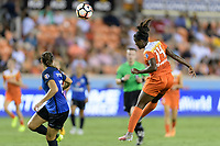 Houston, TX - Sunday August 13, 2017:  Nichelle Prince during a regular season National Women's Soccer League (NWSL) match between the Houston Dash and FC Kansas City at BBVA Compass Stadium.