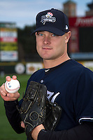 Scranton Wilkes-Barre Yankees pitcher Kevin Whelan #23 poses for a photo during media day at Frontier Field on April 3, 2012 in Rochester, New York.  (Mike Janes/Four Seam Images)