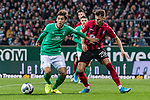 02.11.2019, wohninvest WESERSTADION, Bremen, GER, 1.FBL, Werder Bremen vs SC Freiburg<br /> <br /> DFL REGULATIONS PROHIBIT ANY USE OF PHOTOGRAPHS AS IMAGE SEQUENCES AND/OR QUASI-VIDEO.<br /> <br /> im Bild / picture shows<br /> Yuya Osako (Werder Bremen #08) im Duell / im Zweikampf mit Robin Koch (SC Freiburg #25), <br /> <br /> Foto © nordphoto / Ewert