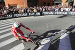 Matteo Montaguti (ITA) Androni Giocattoli-Sidermec rounds the hairpin to commence the San Luca climb during Stage 1 of the 2019 Giro d'Italia, an individual time trial running 8km from Bologna to the Sanctuary of San Luca, Bologna, Italy. 11th May 2019.<br /> Picture: Eoin Clarke | Cyclefile<br /> <br /> All photos usage must carry mandatory copyright credit (© Cyclefile | Eoin Clarke)