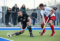 Cory Bennett of the Blacksticks. International Hockey, Blacksticks men v Canada. Warkworth Hockey Turf, Warkworth, Auckland, New Zealand. Thursday 18 October 2018. Photo: Simon Watts/ Hockey NZ