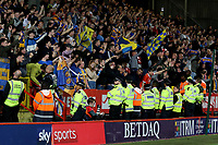 Shrewsbury Town supporters celebrate at the final whistle during Charlton Athletic vs Shrewsbury Town, Sky Bet EFL League 1 Play-Off Football at The Valley on 10th May 2018