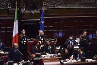 Roma, 31 Gennaio 2015<br /> Camera dei Deputati.<br /> Valeria Fedeli e Laura Boldrini<br /> Alla quarta votazione viene eletto Sergio Mattarella a Presidente della Repubblica.