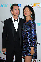 Matthew McConaughey and Camila McConaughey at the premiere of 'Magic Mike' at the closing night of the 2012 Los Angeles Film Festival held at Regal Cinemas L.A. Live on June 24, 2012 in Los Angeles, California. &copy;&nbsp;mpi25/MediaPunch Inc. /NORTEPHOTO.COM<br />