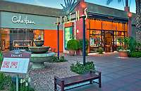 The Gardens, El Paseo Drive, Palm Desert; Boutiques; Cole Haan, L'Occitane; near Palm Springs; famous; retailers; fashion; haute couture; shopping; CA; California; Coachella Valley; Desert;