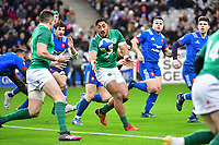 Bundee Aki of Ireland during the RBS Six Nations match between France and Ireland at Stade de France on February 3, 2018 in Paris, France. (Photo by Dave Winter/Icon Sport)
