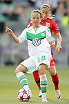 VfL Wolfsburg's Vanessa Bernauer (f) and Olympique Lyonnais' Camile Abily during UEFA Women's Champions League 2015/2016 Final match.May 26,2016. (ALTERPHOTOS/Acero)