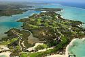 An aerial view Le Touessrok Golf Course, Ile aux Cerfs, Trou d'Eau Douce. Mauritius..Designed by Bernhard Langer © PHIL INGLIS